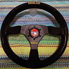 【比比昂.日本改裝 方向盤】スパルコ ステアリング sparco スエード バックスキン WRC 330mm イ