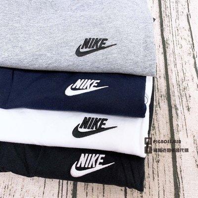 【豬豬老闆】Nike 小刺繡 Logo 經典款 彈性 舒適 素T 素TEE 短踢 四色
