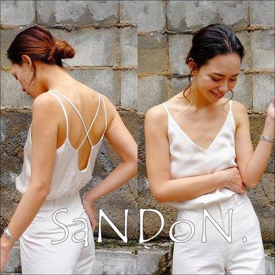 SaNDoN x『TODAYFUL』新作獨家款 交叉吊帶性感指數高到嚇人天絲綢緞背心 SNIDEL 韓妮  180521