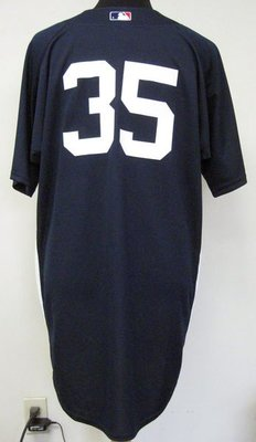 MLB YANKEES #35 MIKE MUSSINA GAME ISSUED BP JERSEY SIZE:48