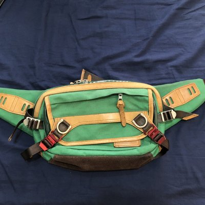 master-piece  potential ver.2  麂皮  綠色  鹿皮  腰包 日本製