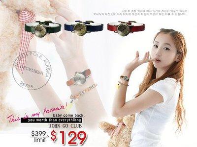 韓國舊式風格 時尚羅馬復古懷舊女士細帶款 手錶/女錶/皮帶款 ☆匠子工坊☆【UQ0038】
