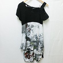 【Kstyle】精品店過季商品P&M--肩帶裝飾鐘型短袖洋