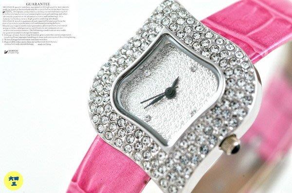 (六四三精品)DILONGER(真品)超美滿天星鑽錶.施華洛世奇水晶鑽(有証明)18K白金式