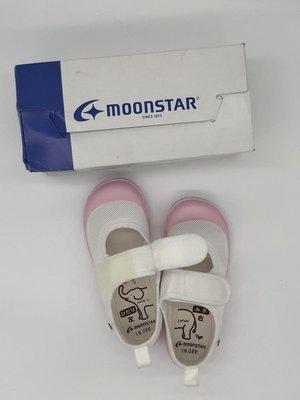 《日本Moonstar》日本製 絆帶室內鞋 中小童段-粉/藍(14-21.0cm)M02