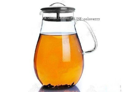 美式花茶壺 耐熱玻璃壺不銹鋼過濾花茶壺 超大1900ml 圣誕禮物Lc_709