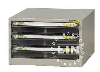 【品特優家具倉儲】961-02資料櫃效率櫃A4單排3小抽桌上型資料櫃