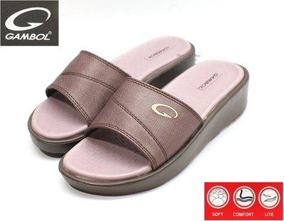 GAMBOL 女款休閒拖鞋  ( GW42148Z 紫)