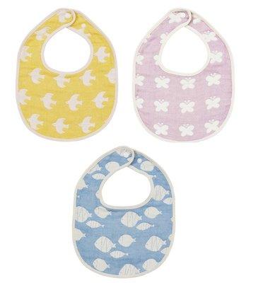 尼德斯Nydus~* 嚴選日本製  嬰兒/Baby用品 口水墊 圍兜 授乳斤 100%棉 -共3色