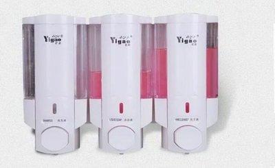 商務型大容量手動3頭皂液器 洗手液器 皂液盒 給皂器機(白色2+1 3頭版) 新台幣:478元