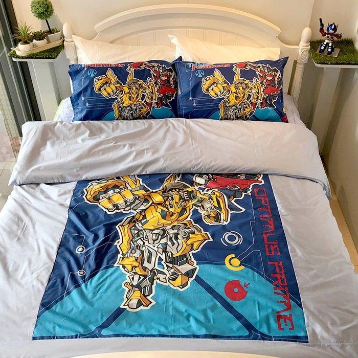 床包被套組 / 單人【變形金剛勇氣篇】含一件枕套  人氣卡通授權  混紡精梳棉  戀家小舖台灣製ABE112
