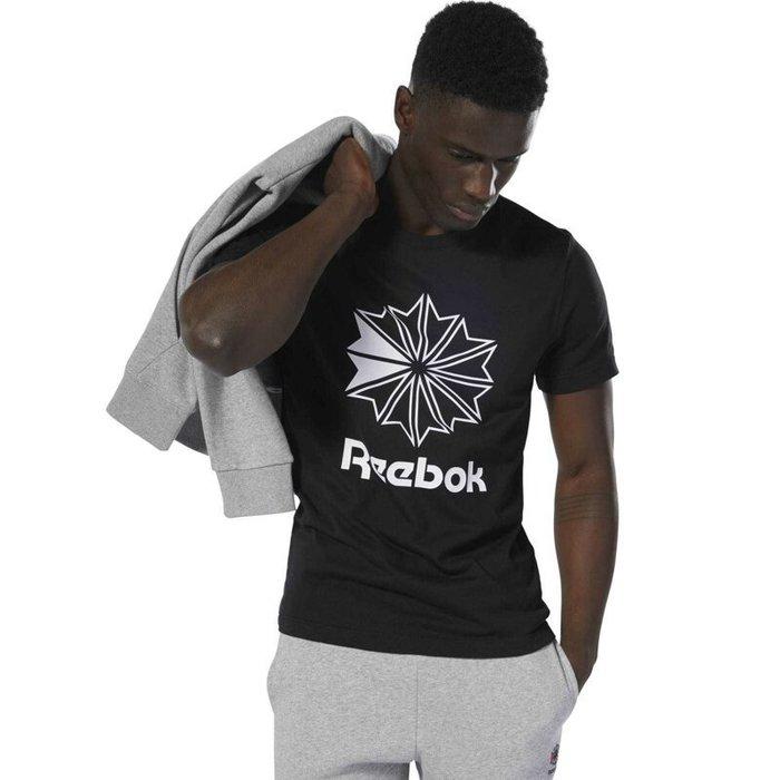 Reebok Classic 全新 黑色 印花標誌 運動 休閒 戶外 街頭 上衣 短袖上衣 T恤 DT8171