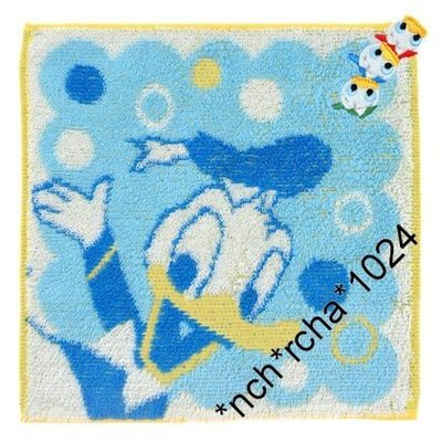 (現貨) 約20x20cm 全棉 方型毛巾 日本迪土尼商店 限定品 Disney Donald Duck 唐老鴨 日本直送 全新品