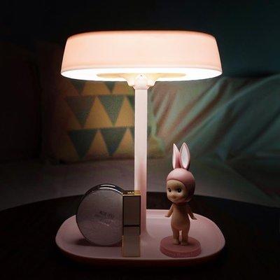 LED化妝鏡台式帶燈便攜折疊公主梳妝鏡送女友送閨蜜現代女生禮物