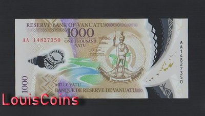 【Louis Coins】B1415-VANUATU-2014萬那杜(瓦努阿圖)塑膠紙幣,1000