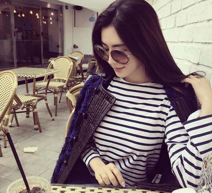 本月驚喜特價 Chloe 經典簍空金色金屬大圓框 咖啡色漸層太陽眼鏡 CE120S 735 公司貨 女神時尚必備單品 120