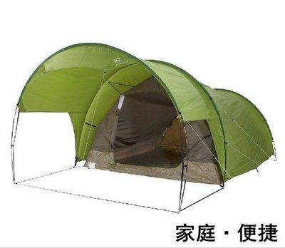 迪卡儂 戶外露營家庭基地帳篷 4人帶前廳雙層快速搭建 QUECHUA 一室一廳 前廳 多人 車庫帳篷