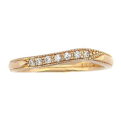 【JHT金宏總珠寶/GIA鑽石專賣】0.07ct天然鑽石線戒/材質:18K(JB45-A08)