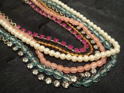 美國帶回,全新從未戴過 American Eagle AEO 多層彩珠造型項鍊,低價起標無底價!本商品免運費!