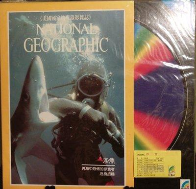 沙魚 絕版LD 雷射影碟 全新未拆 美國國家地理錄影雜誌