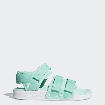 # adidas Originals Sandal 綠色 蘋果綠 涼鞋 魔鬼氈 拖鞋 女鞋 運動 B27998 YTS