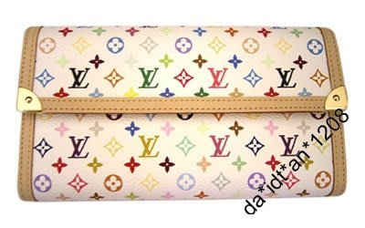 Louis Vuitton White Takashi Murakami Monogram Leather Wallet 100% NEW 村上隆 銀包 絕版 限量版