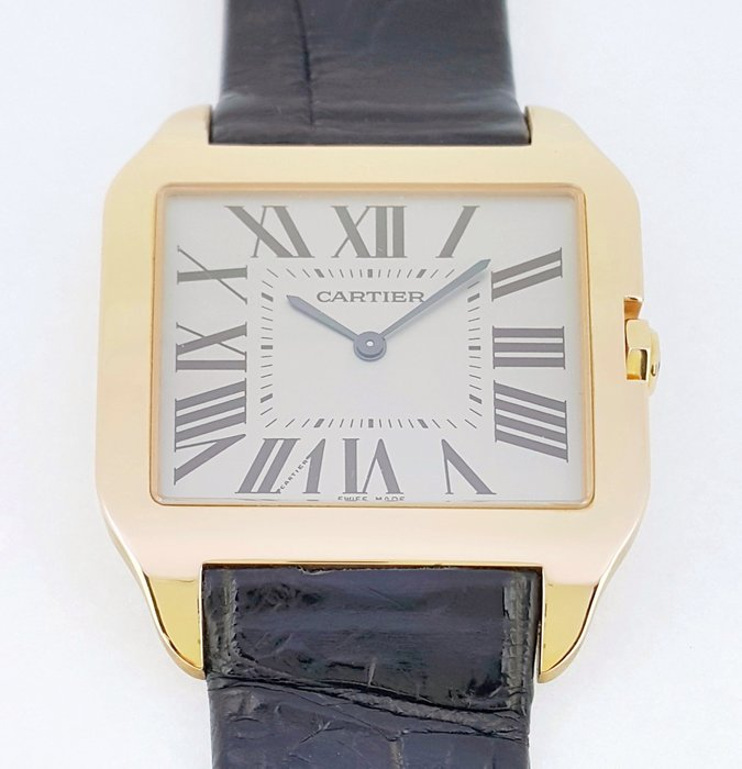 CARTIER 卡地亞 Santos Dumont 山度士 玫瑰金腕錶