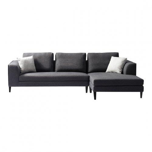 【歐雅系統家具】萊德分割式布沙發-L型-鐵灰