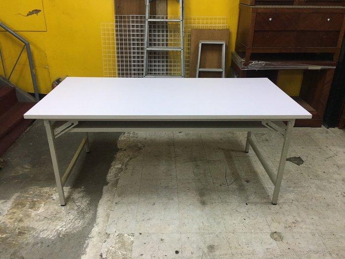 非凡二手家具 全新 H型折合會議桌(白面)*辦公桌*洽談桌*開會桌*工作桌*電腦桌*事務桌*主管桌*書桌