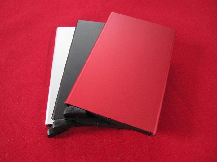 自動彈出名片盒 信用卡盒名片盒鋁合金卡包銀行卡盒會員卡夾