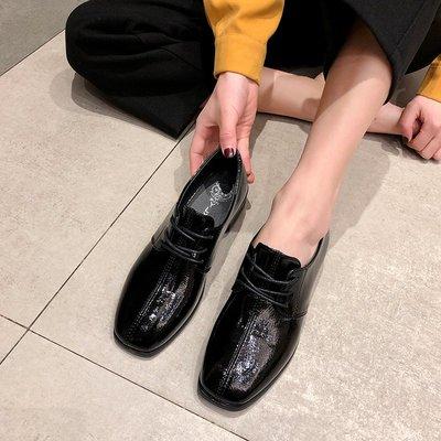 新品上新ins小皮鞋女復古2019春季新款英倫風學生百搭軟妹系帶粗跟單鞋子