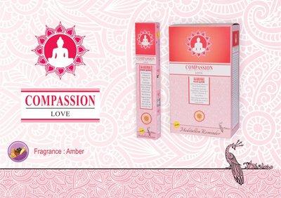 [晴天舖] 印度線香 憐憫之心 琥珀香 eLite COMPASSION 舒緩好清香~3條100 歡迎混搭