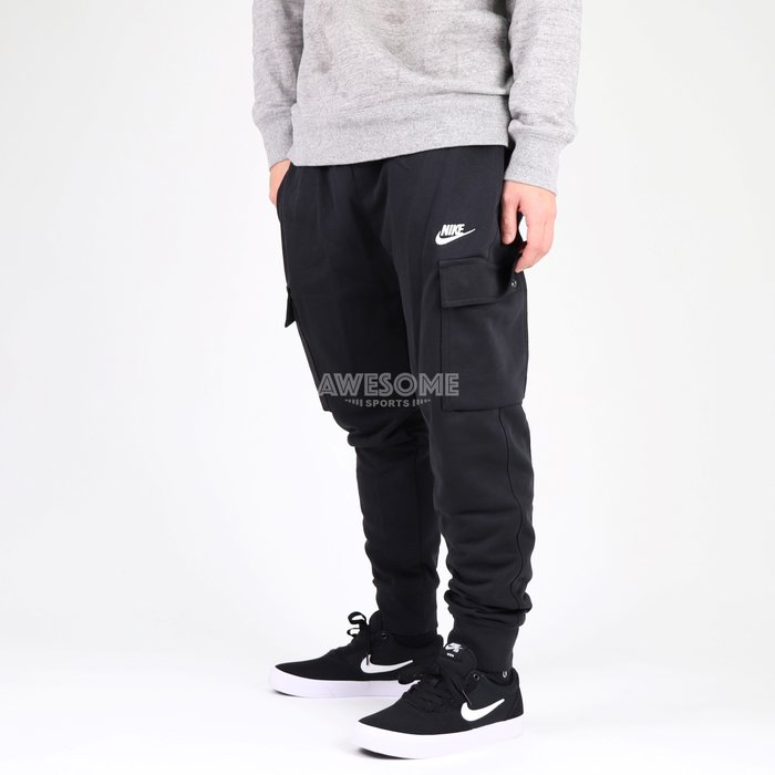 [歐鉉]NIKE NSW CLUB FRENCH TERRY 黑色 棉褲 工裝褲 運動長褲 男生 CZ9955-010