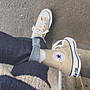 XinmOOn CONVERSE CANVAS ALL STAR COLORS HI 1CL128 休閒 卡其 奶茶色