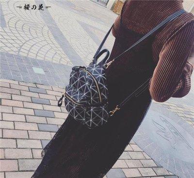 [新品]菱格車縫線迷你後背包新款韓版單...