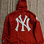 [SIZE: M]Supreme Yankees Satin Hooded Coach Jacket (RED)