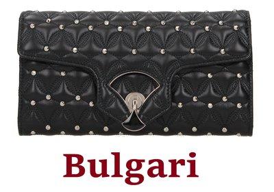 Bulgari Bvlgari 歐洲精品 卯釘 鉚釘 拉鍊 小香風 長夾 手拿包 皮夾 卡夾 收納包 大容量 精緻美包