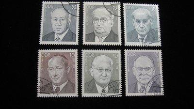 【大三元】歐洲郵票-6.德國郵票-名人-銷戳票6枚(2)