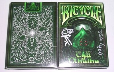 【USPCC撲克】Call of Cthulhu-封標章魚簽名(Limited Signed & Numbered)
