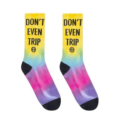 Church! HUF 20SP-SK00464 DON'T TRIP SOCK BLAZING YELL 長襪 渲染