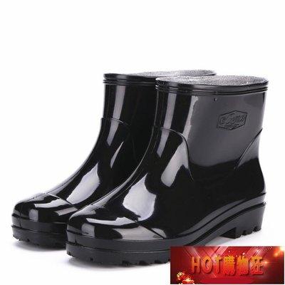 低筒防水雨雪靴膠鞋雨鞋套防滑加厚耐磨成...