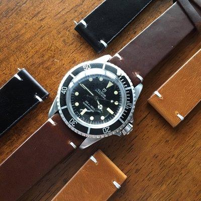 【錶帶家】進口 19mm 21mm 油蠟皮復古油性變色全牛皮真皮錶帶適用 ORIS MIDO ARMANI FOSSIL