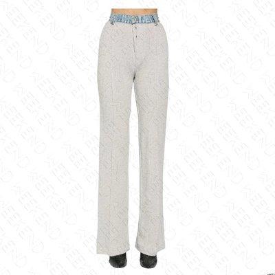 【WEEKEND】 UNRAVEL 異材質 拼接 特殊造型 牛仔褲頭 棉褲 20春夏