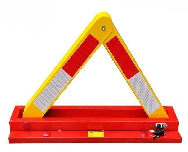 【優上精品】西力特加厚車位鎖地鎖A型停車位地鎖汽車槽鋼三角占位停車鎖防撞(Z-P3084)