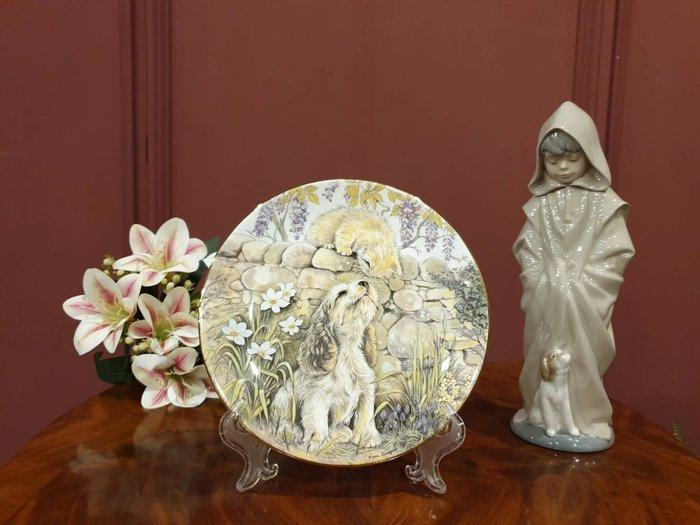 【卡卡頌 歐洲古董】英國  Royal Worcester 伍斯特   甜美 貓貓狗狗  骨瓷  飾盤   p1494
