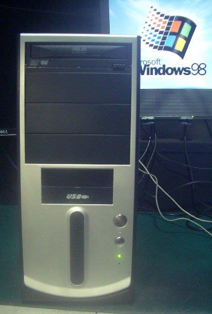 【窮人電腦】跑早期系統(工業繪圖)專用機!自組高階技嘉Win98電腦主機出清!