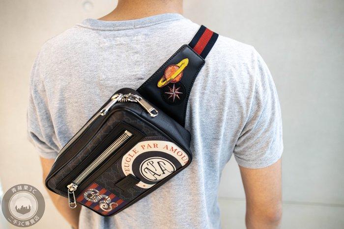 【青蘋果3C】Gucci Night Courrier系列人造帆布腰包 4742939 二手 腰包 精品 #29911