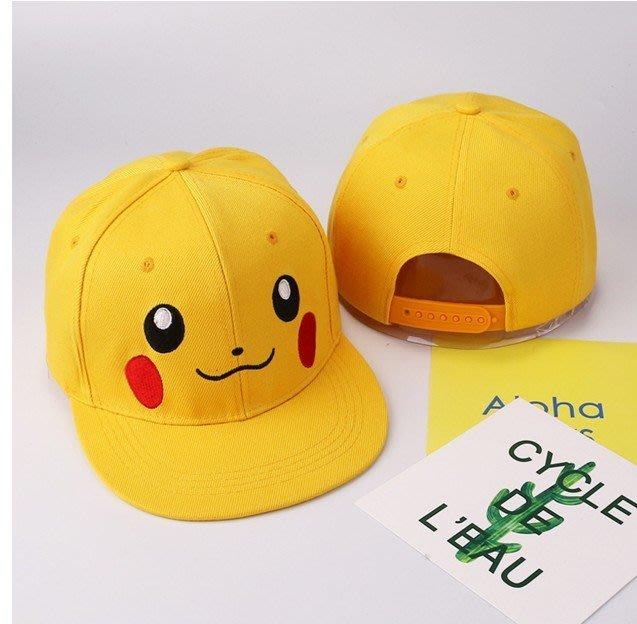 寶可夢 POKEMON 寵物小 精靈 神奇寶貝 口袋 妖怪 神奇寶貝 皮卡丘帽子/ 棒球帽.板帽(小孩款)