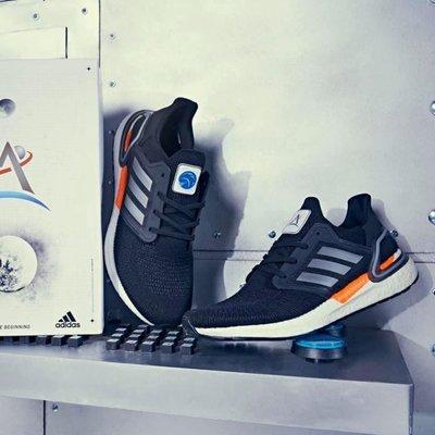 南◇2020 12月 Adidas SPACE RACE ULTRABOOST 20 DNA 跑鞋 FX7979 黑銀橘