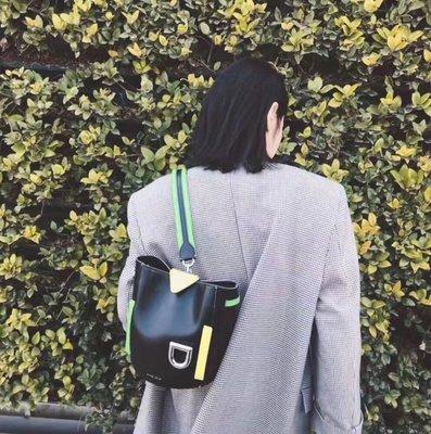 ╭☆包媽子店☆英國DANSE LENTE女包 Josh系列女士2019新款小牛皮手提包 水桶包